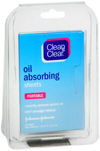 Clean&clear Acne Oil Absorb Sheet 50ct