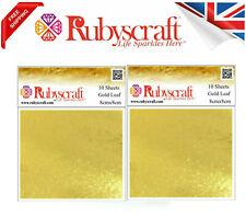 Gold Leaf 100 Genuine 20 Sheets