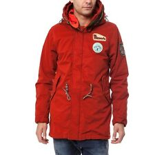 $515 Scotch & Soda double hooded cotton canvas parka Size S, Small New with Tags
