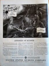 Deep Sea Divers Work with Hose-Operated Torch on Sunken Submarine WWII Ad