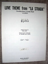 1956 LOVE THEME from LA STRADA (Traveling Down a Lonely Road) Sheet Music