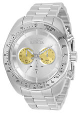 Invicta Men's Speedway Chronograph Silver Or Gold Tone 48MM Case 100M W/R Watch