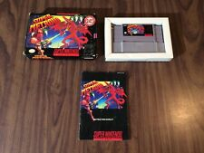 Super Metroid (Super Nintendo, SNES) Complete -- Box and Manual have wear --