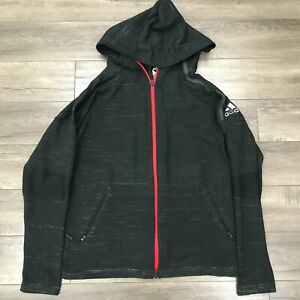 Adidas ZNE Tennis Primeknit Long Sleeve Hooded Sweatshirt Mens Large Black