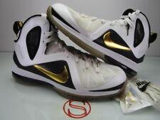 Nike Lebron 9 PS Elite WHITE GOLD 10