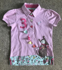 Girls JOULES Moxie Pink Applique Polo Shirt  - No3 Dog Age 6 Yrs