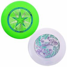 NEW Discraft ULTRA-STAR 175g Ultimate Frisbee Disc (2 Pack) GREEN/ULTRAVIOLET