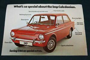 Chrysler Imp Caledonian Special Edition Colour Single Sheet 1975