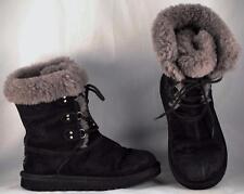 Youth Girl's UGG Australia Sophy Black Suede Winter Boots US 3 UK 2 EUR 33