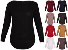 Wool Long Sleeve Boat Neck Hip Length Women's Jumpers & Cardigans