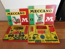 LOT DE 2 BOITES MECCANO N1M N2M MODELE MADE IN ENGLAND BY MECCANO LIMITED