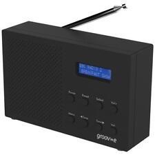 Groov-e gvdr 03/BK PARIS Portátil DAB/FM Radio Alarma Ligero Digital-Negro