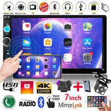 "7"" Bluetooth Autoradio Stereo MP5 MP3 Player Doppel 2Din USB TF FM AUX + Kamera"
