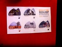 AUSTRALIAN DISASTER RELIEF FUND PEEL & STICK SHEETLET OF 5  STAMPS MUH
