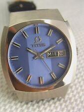 schöne Armbanduhr Titus Automatik Stahl