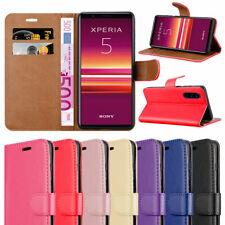 For Sony Xperia 5 Phone Case Leather Wallet Flip Book Folio Cover for Xperia 5