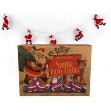 New Retro Vintage Christmas Santa Fairy Lights Garland String Xmas Party Lights