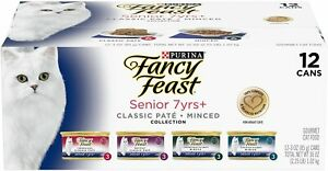Purina Fancy Feast  Senior 7+ Variety Pack  (12) 3 oz. Cans Wet Cat Food