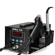 ESD Safe 2 in 1 Rework Soldering Station hot Air Gun Solder Iron DC Power Supply
