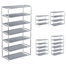 3/4/5/6/7 Tier Metal Shoe Rack Stand Shelf Organizer Storage 9/12/15/18/21 Pairs