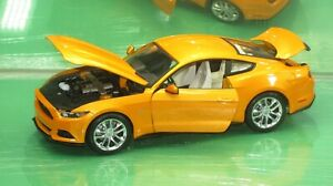 MUSTANG GT COUPE METALLIC ORANGE 1:18 NEW IN BOX !!!!