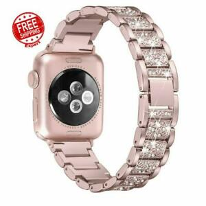 Band For Apple Watch Series 5/4/3/2/1 38/40mm Glitter Wrist Strap Metal Bracelet