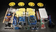 UNO R3 DIY 4WD Ultimate Robot Car Starter Beginner Kit for Arduino + Bluetooth