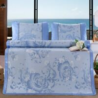 Breathable Ice Silk Sleeping Crib Mattress Mat Summer Cool Pad with Pillow Home#