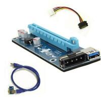 NE_ Cy_ FT- USB3.0 PCI-E Express 1X to 16X Extender Riser Card Adapter SATA with