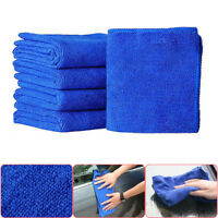 10Pcs Absorbent Soft Microfiber Towel Auto Car Washing Clean Wash Cloths Blue