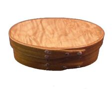 Shaker Miniature Gift Box with Cherry Bands and Maple Burl Top, Lacquer FInish