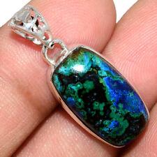 Azurite In Malachite - Morenci Mines 925 Silver Pendant Jewelry AP211570