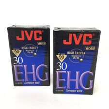 JVC Camcorder Tape VHS-C 90 Minute Hi-Fi EHG TC-30 New Sealed 2 Pack