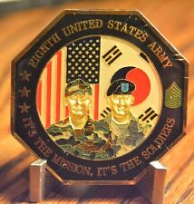 US Army Eighth United States Army Commanding General and CSM Challenge Coin