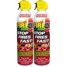 Fire Extinguisher Dry Chemical Safety Emergency Home Spray Suppressant 2-Pack