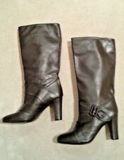 REISS Real Leather Boots, Size 5, Dark Brown, High Heels, New Without Box