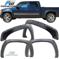 Fit 99-06 Silverado Sierra 1500 2500 3500 Boss Pocket Rivet Fender Flares Sanded