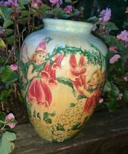 Trumpet Flower Fairy Dust Cicely Mary Barker One Of A Kind Vase Rare 8x6 ��tb9j4