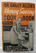 Ida Bailey Allen's Money Saving Cook Book, 1940, Garden City - Rare