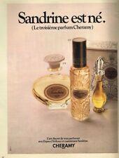 H- Publicité Advertising 1970 Parfum Eau de Toilette Sandrine Cheramy