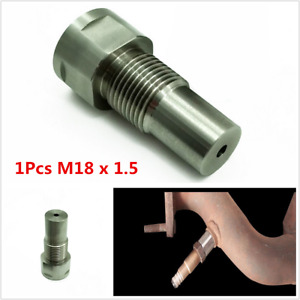 1Pcs M18 x 1.5 Straight 02 O2 Oxygen Sensor Downpipe Extension Spacer For Car