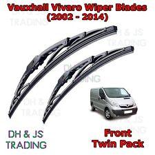 (02-14) Vauxhall Vivaro Front Wiper Blades Window Windscreen Set Van Opel 24/21