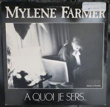 "MYLENE FARMER 12"" MAXI 45 TOURS VINYL  ""A QUOI JE SERS..."" CLUB REMIX"