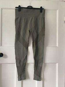 H&M Khaki Green Gym Leggings Size M (12/14)