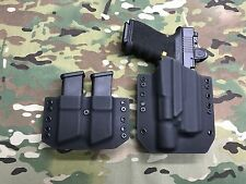 Black Kydex Holster for Glock 19 23 32 Surefire X300 Ultra A & Dual Mag Carrier