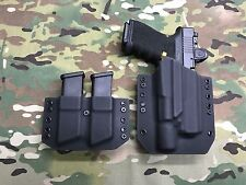 Black Kydex Holster for Glock 19 GEN5 Surefire X300 Ultra A Model & Mag Carrier