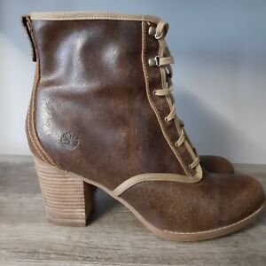 Timberland Rudston Earthkeepers Women's Lace up Ankle Boots in Wheat, Size 9.5
