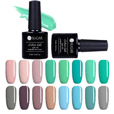 7.5ml Soak Off UV Gel Polish Pink Green Series Pure Color Nail Art Gel Polish