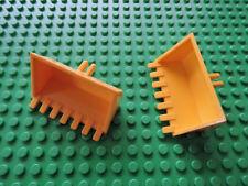 Lego 2 x pala 30394 amarillo 3x6 bisagra 6600 7936 4201 5930 7633