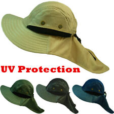 Boonie Snap Hat Brim Ear Neck Cover Fishing Hiking Garden Sun Flap Visor Cap Lot